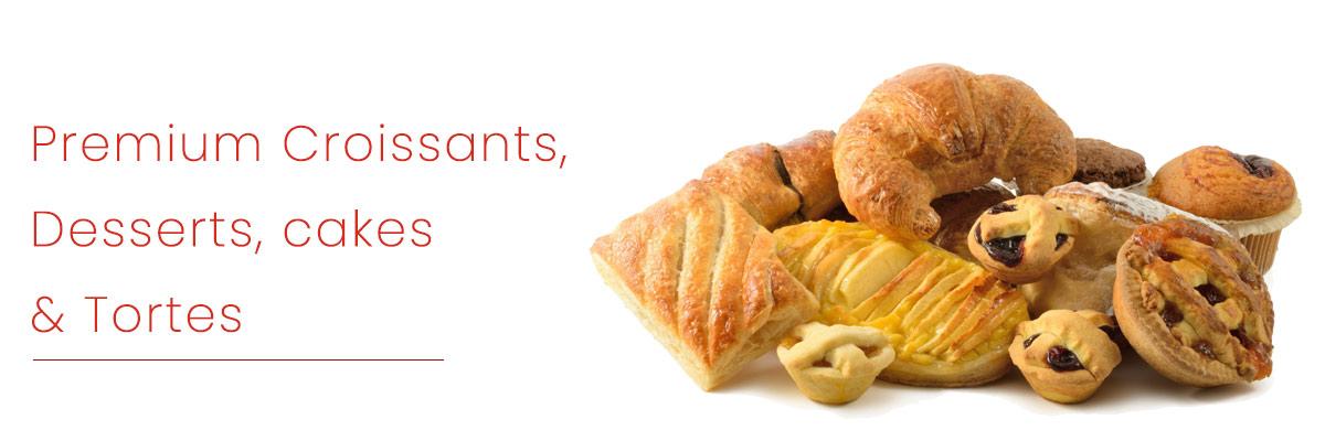 Premium Croissants, Desserts, Cakes & Tortes